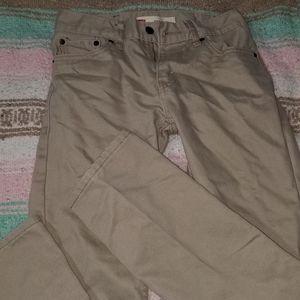 Boys khaki skinny jean
